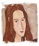 Amedeo Modigliani - Jeanne Hébuterne's head toward right