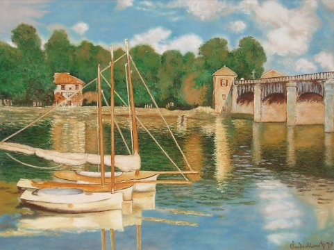 Claude Monet - Argenteuil bridge